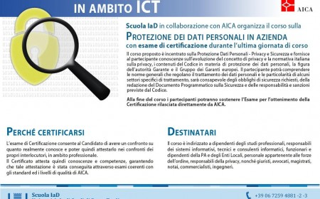 Privacy e Sicurezza in ambito ICT